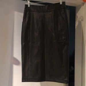 F21 Faux Leather Pencil Skirt
